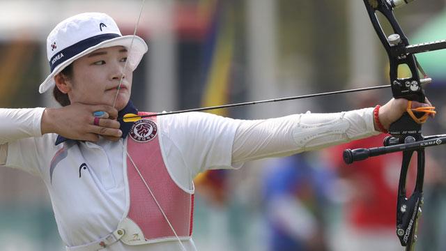 양궁 강채영, 60m 대회新 금메달…오진혁은 90m 금