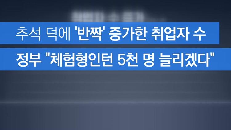 [자막뉴스] 추석 덕에 '반짝' 증가…보릿고개 앞두고 체험형인턴 5천 명
