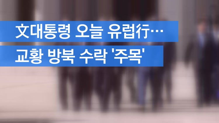 [자막뉴스] 文대통령 오늘 유럽行…교황 방북 수락 '주목'