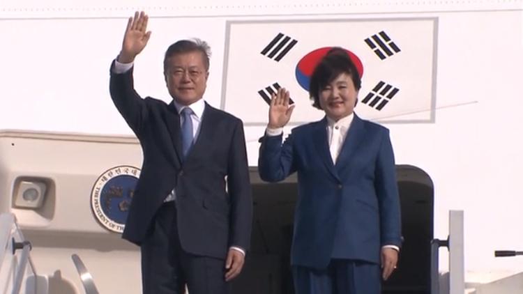 [영상] 문 대통령 프랑스 도착 모습
