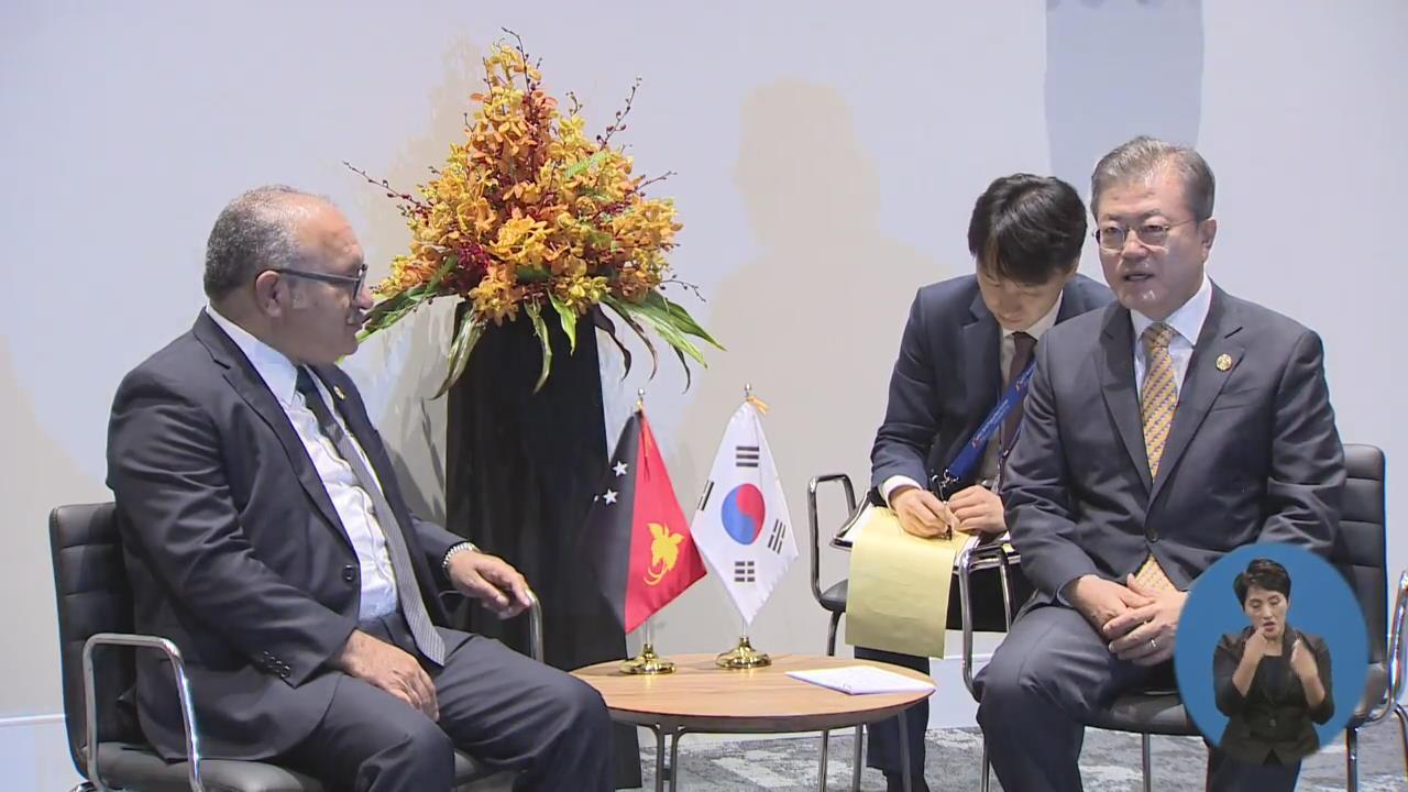 문 대통령, APEC서 연쇄 양자회담…한반도 정세 논의