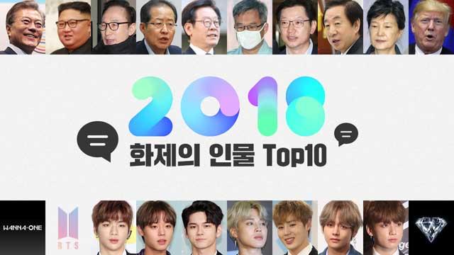 """[와글와글2018] 댓글많은 기사로 본 2018년 화제인물 """"문재인, 워너원"""""""