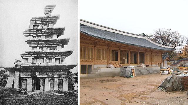 [취재후] 미륵사지 석탑부터 경복궁까지…'시멘트' 복원의 흑역사