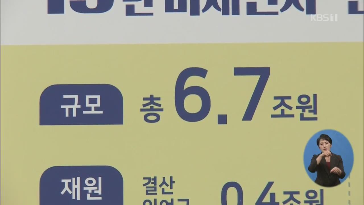 '미세먼지·경기대응' 추경 6조 7천억 편성…국회 통과 '미지수'