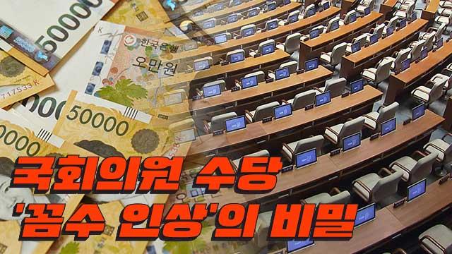 [취재후] 법보다 6배 많은 국회의원 수당 '꼼수 인상'의 비밀