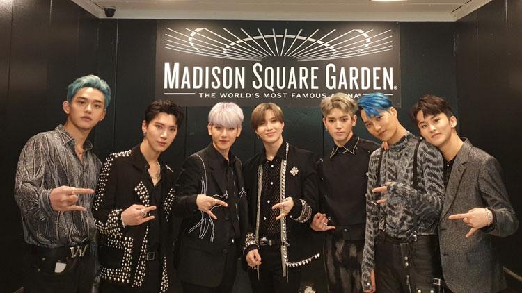 슈퍼엠, 뉴욕 매디슨스퀘어가든 접수…K팝 그룹 첫 단독공연