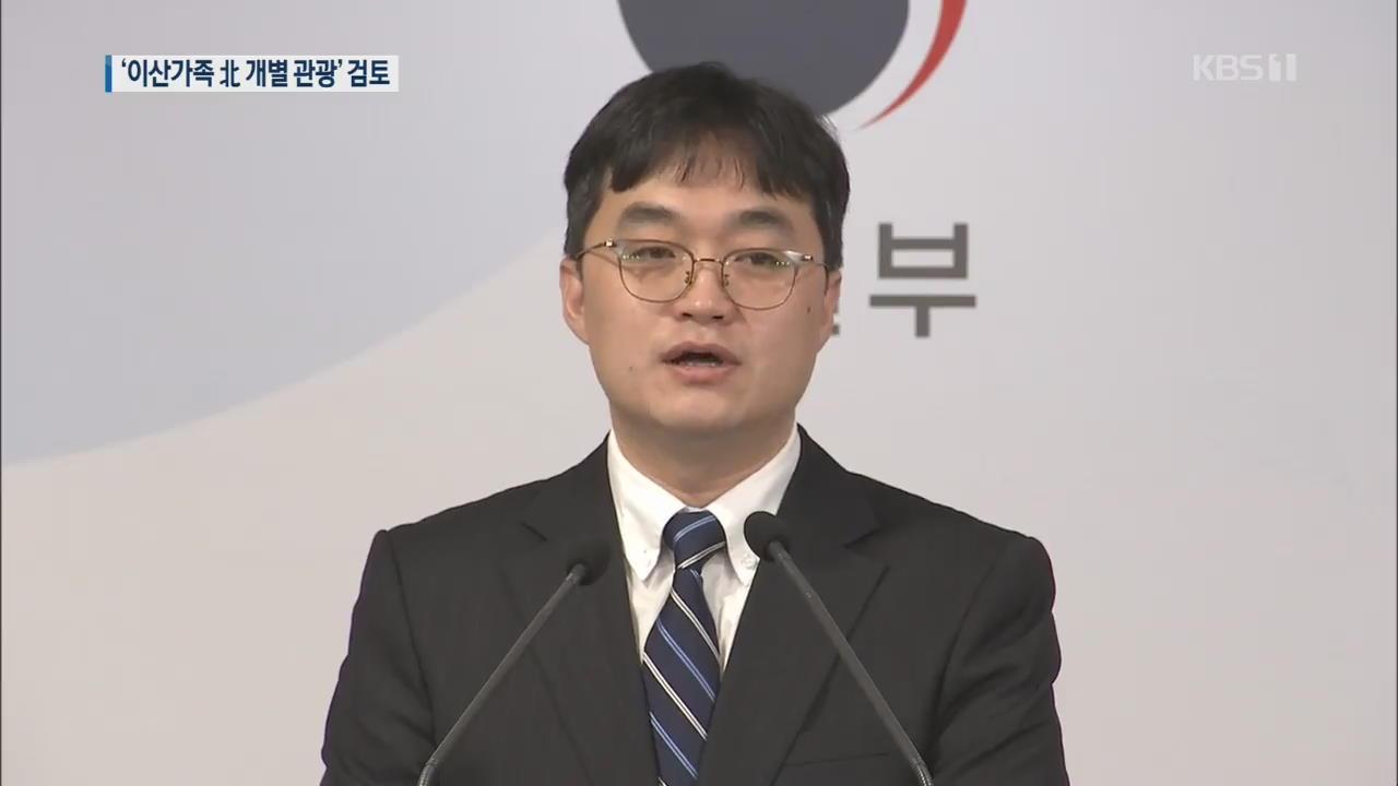 정부, '이산가족 北 개별관광' 최우선 검토
